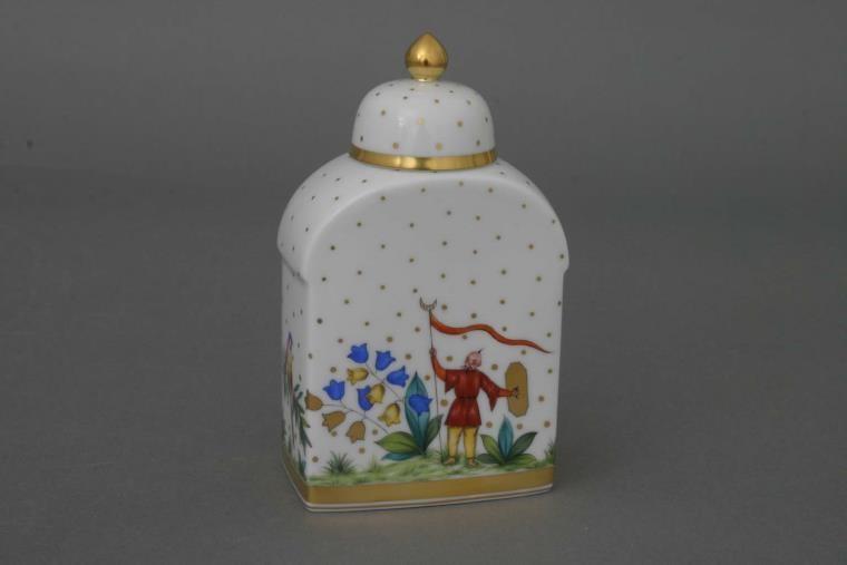 Tea Caddy, button knob - Oriental Showmen