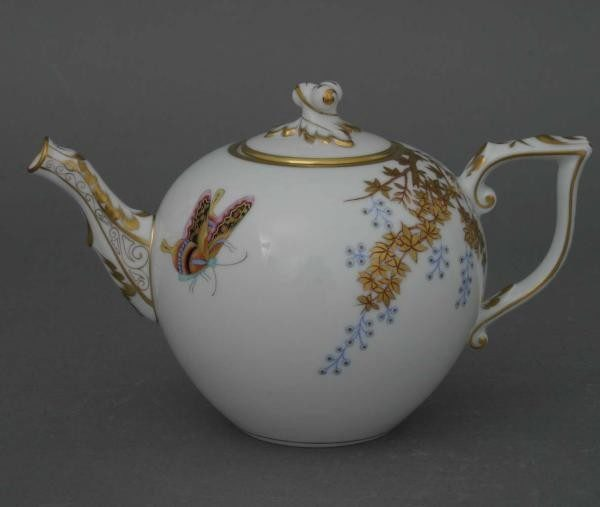 Teapot, twisted knob - Bamboo & Butterly