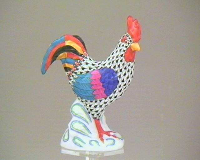 Rooster, looking to the right - Assorted Fishnet Decors