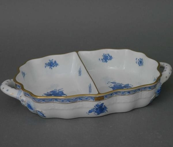 Hors D'ouvre Dish - Chinese Bouquet Blue
