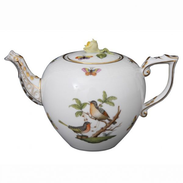 Teapot, bird knob - Rothschild Bird