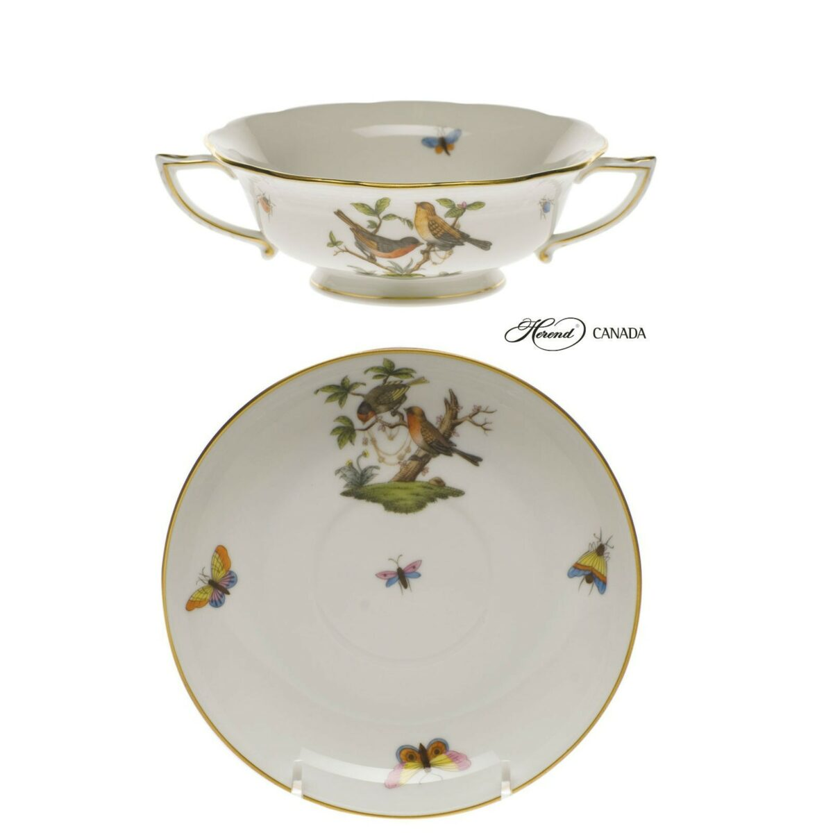 Soup Cup and Saucer - Rothschild Bird