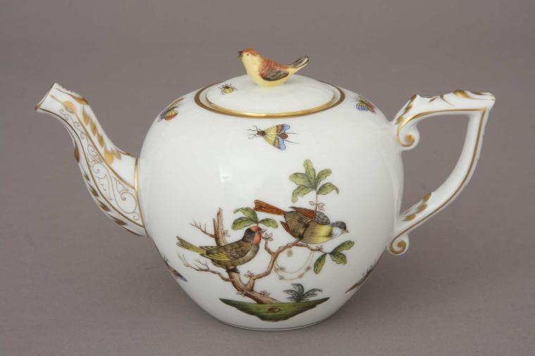 Teapot,bird knob - Rothschild Bird