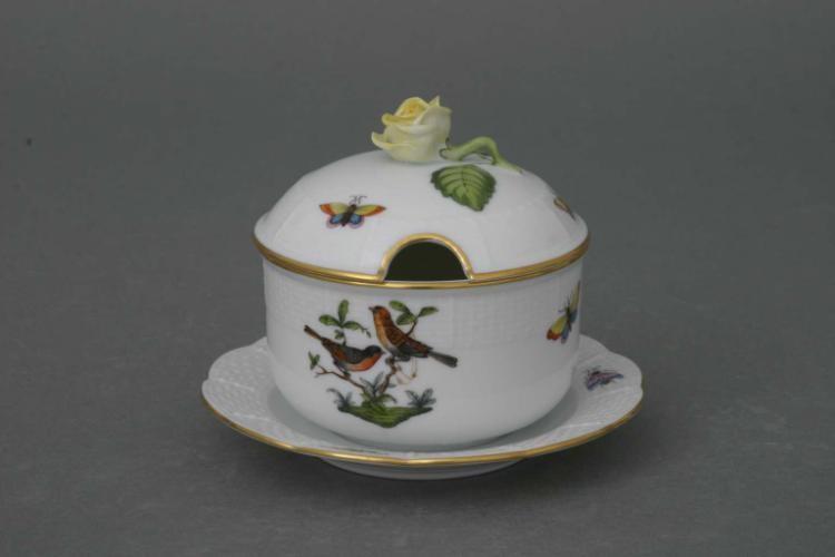 Jam pot, rose knob - Rothschild Bird