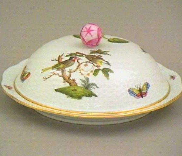 Butter dish, Bud knob - Rothschild Bird