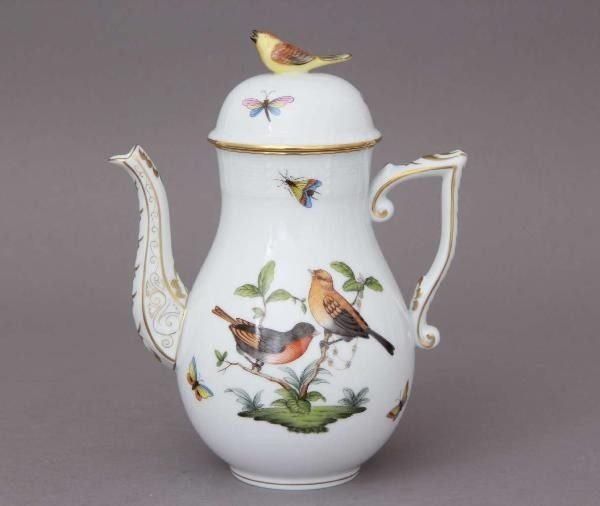 Coffee Pot, bird knob - Rothschild Bird