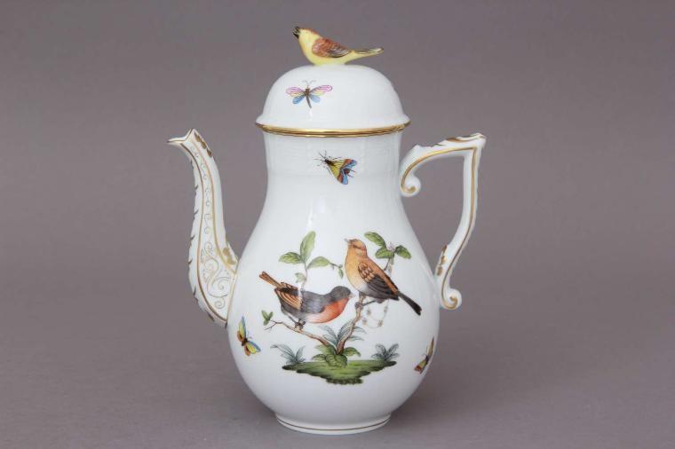 Coffee Pot, bird knob - Rothschild Bird
