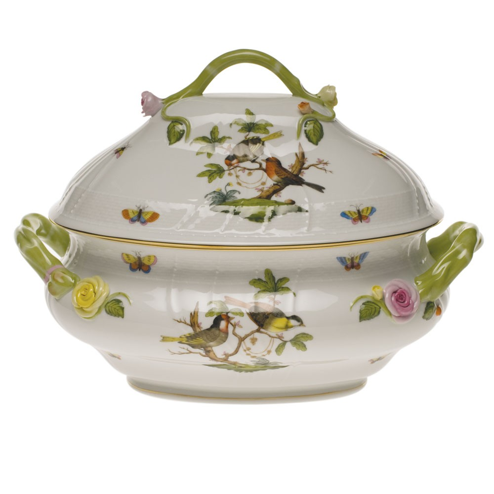 Soup tureen, branch knob - Rothschild Bird (4QT)