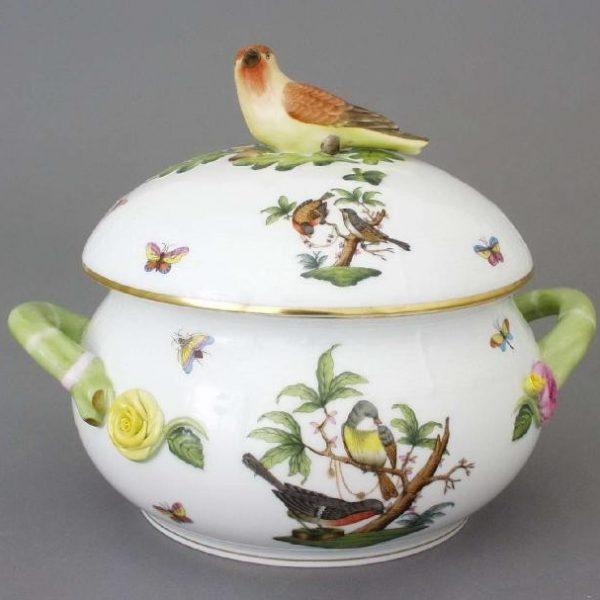Soup tureen, bird knob - Rothschild Bird