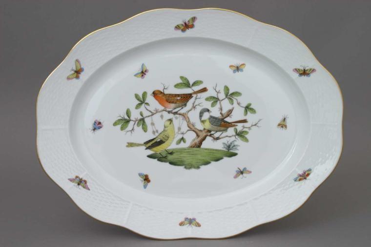 Large Oval dish - Rothschild Bird
