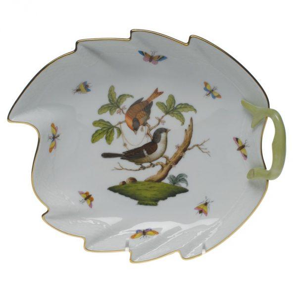 Large Leaf Dish - Rothschild Bird