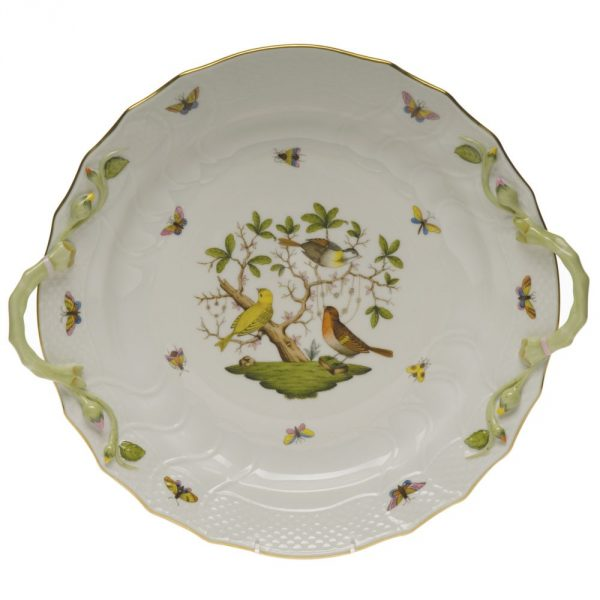 Cake Plate w. handle - Rothschild Bird