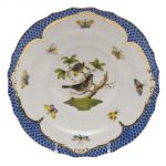 Dessert Plate - Rothschild Bird Fishnet Blue