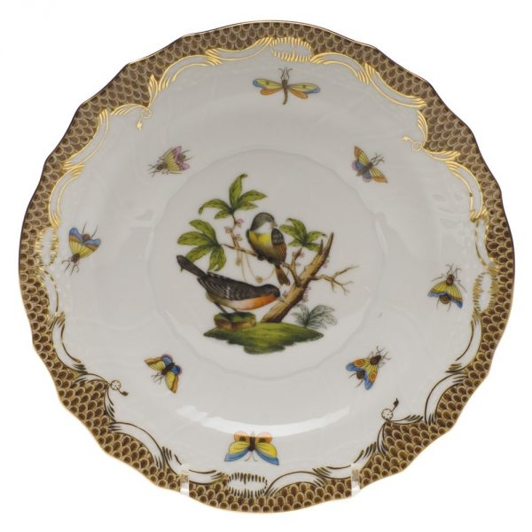 Dessert Plate - Rothschild Bird Brown