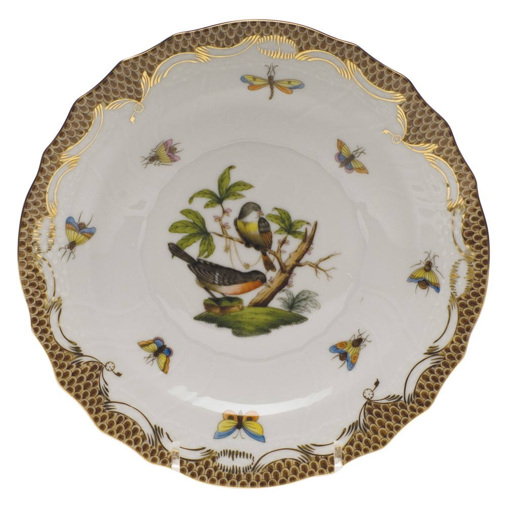 Dessert Plate - Rothschild Bird Brown