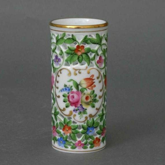 Vase, open-work