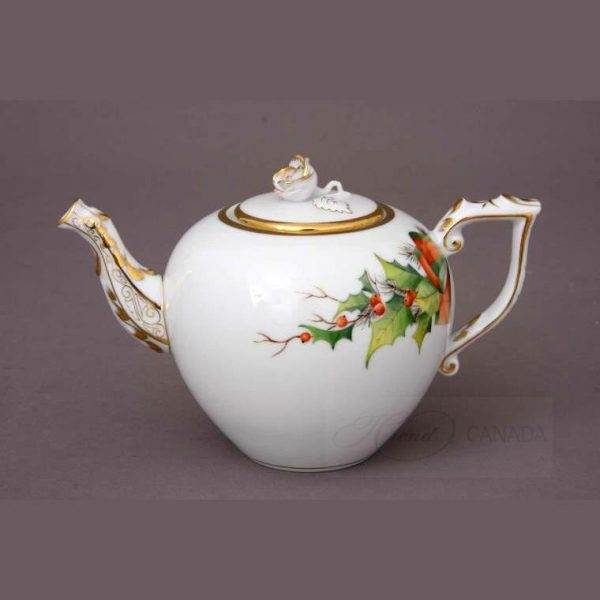 Teapot, rose knob - Christmas Edition