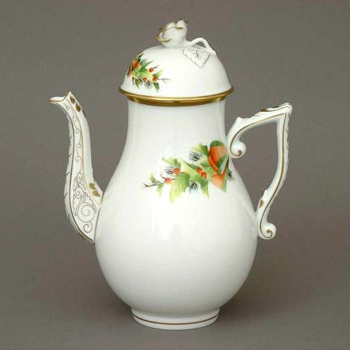Coffeepot, rose knob - Christmas Edition