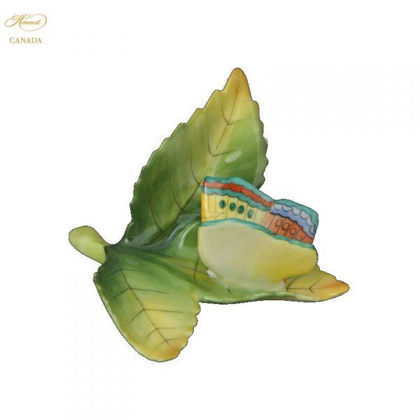 Butterfly on leaf menu-holder