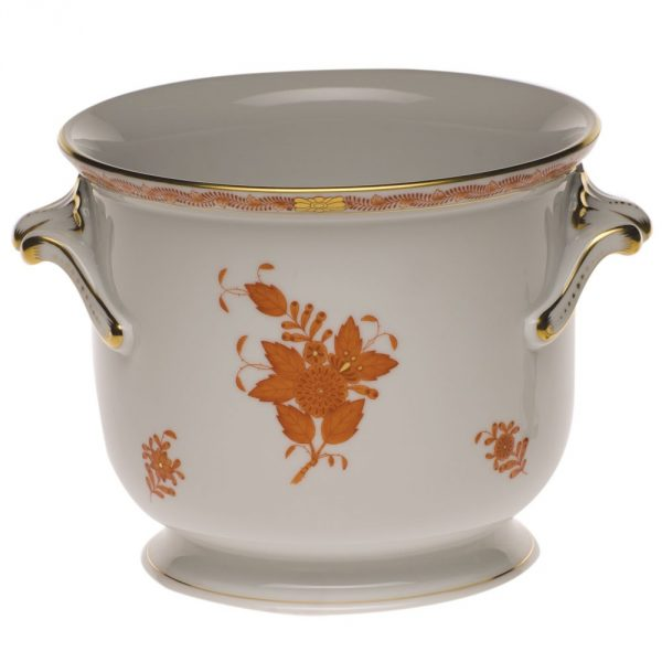 Medium Cachepot w. twisted handle (Assorted Decors)