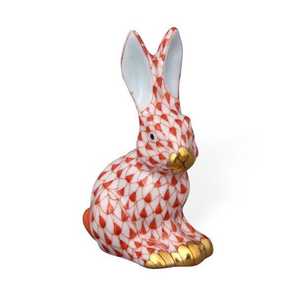 Miniature sitting rabbit