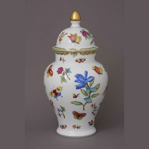 Vase, button knob (various decors)