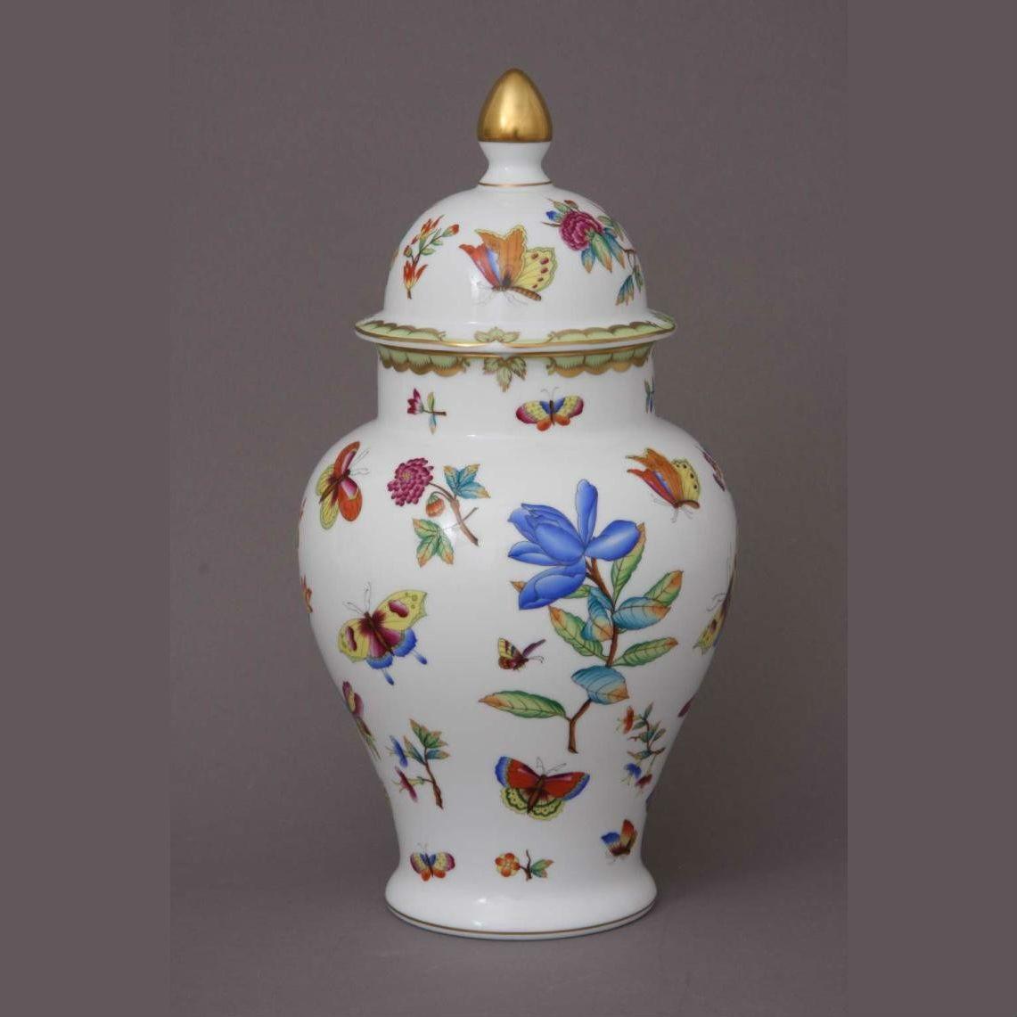 Vase, button knob (various decors)