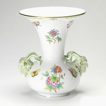 Vase, goat head handles