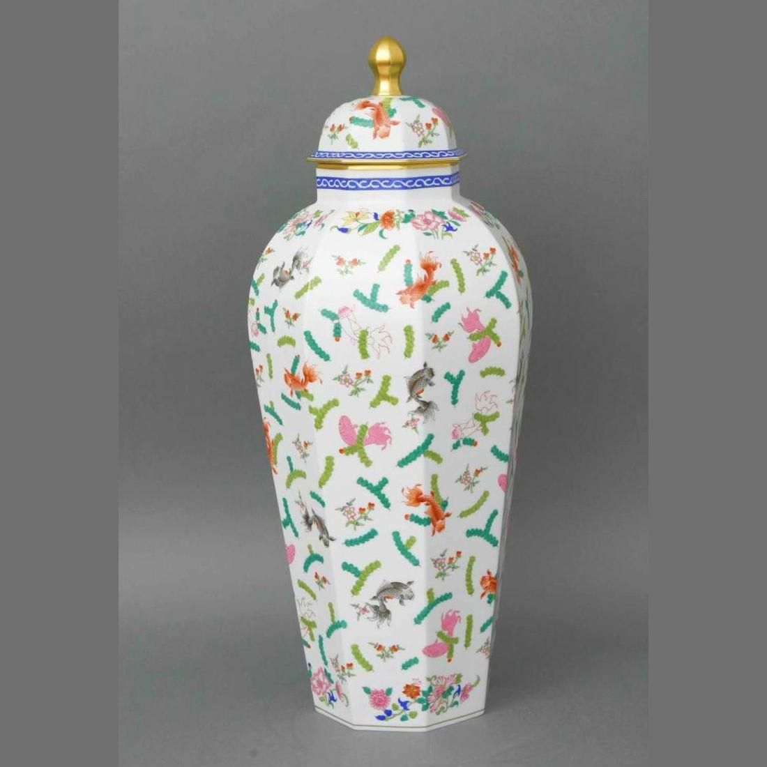 Vase, button knob