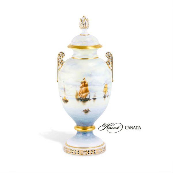 Vase, acanthus knob