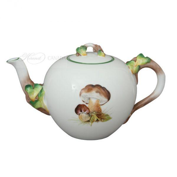 Teapot, Mushroom Knob - Leaf Edition