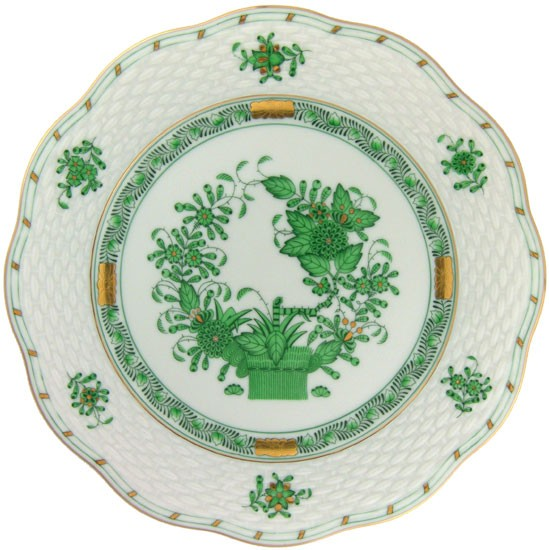 Salad Plate - Indian Basket Green
