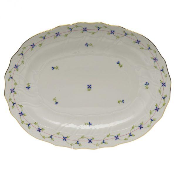 Oval dish - Petite Blue Garland