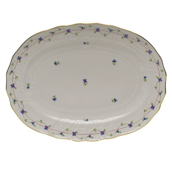 Medium Oval dish - Petite Blue Garland