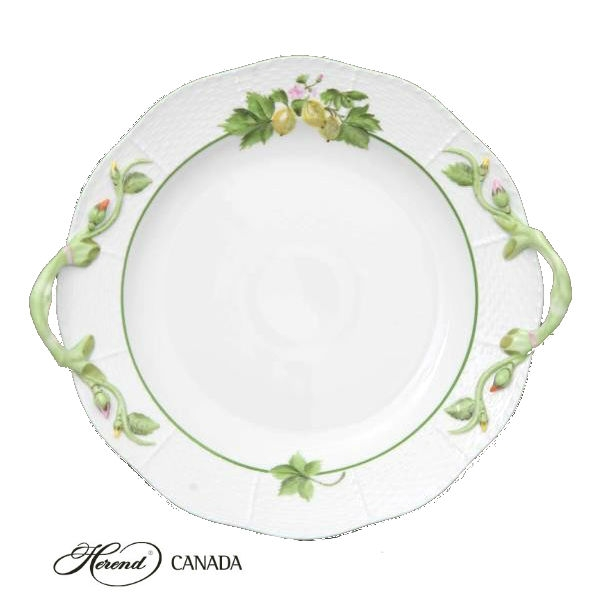 Cake Plate w. handle - Fruits of Forest