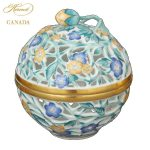 Herend Giftware Collection Open Work Bonbonniere Stawberry Knob - Hand made and handpainted in Hungary - Herend's largest home decor selection at Herend