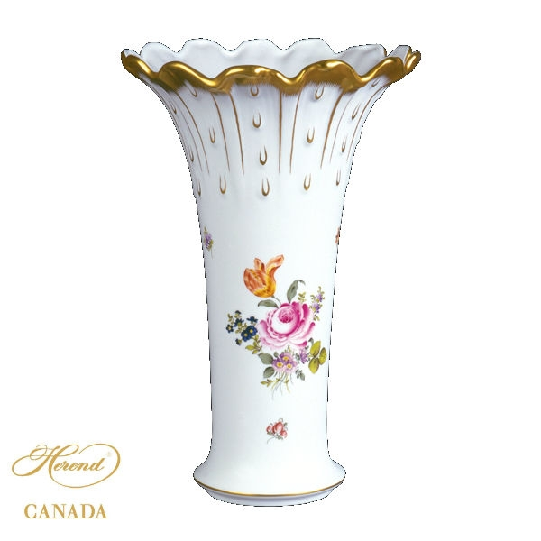 Medium Vase w. 24k gold edge (Assorted Decors)