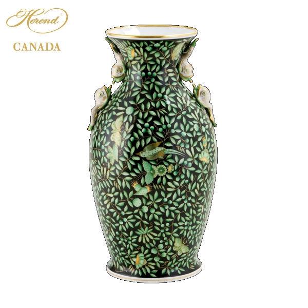 Vase, dolphin handle