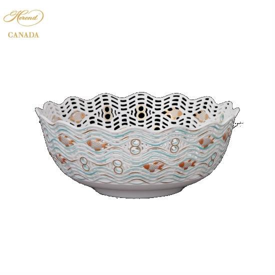 Dish, Pierced,Fish Relief