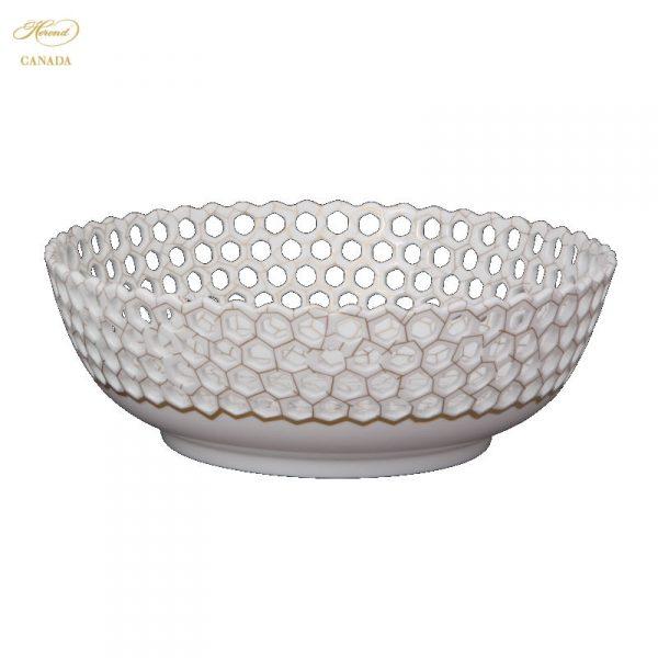 Dish with Cells,Wavy Edge,Pierced