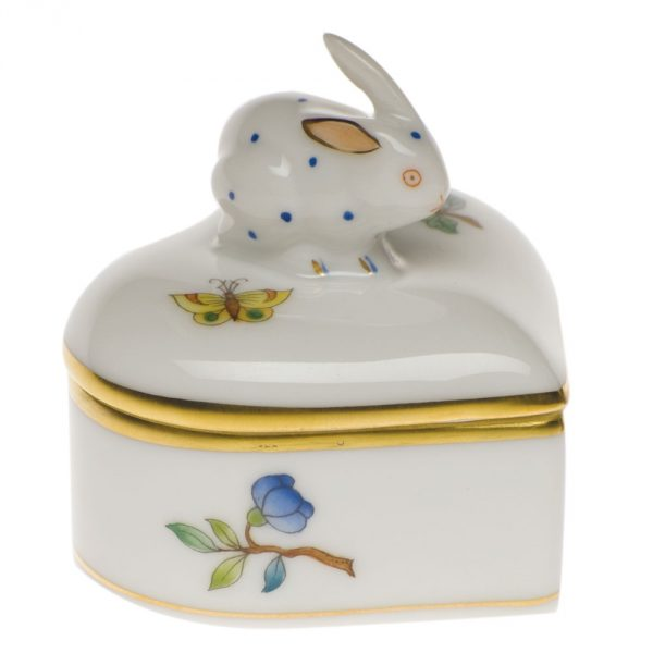 Fancy Box, Heart-shaped, Rabbit Knob