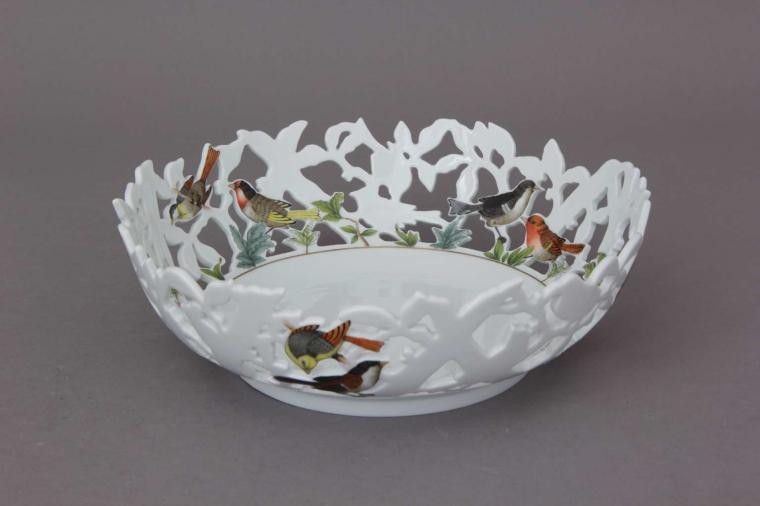 Dish with Birds, pierced (Assorted Decors)