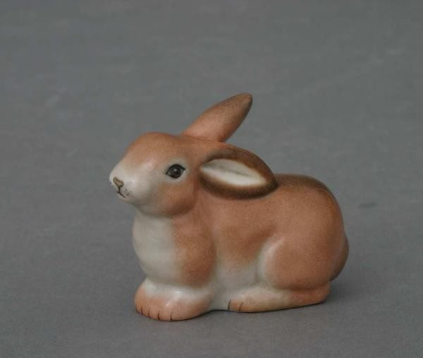 Bunny lying - Herend Animal Figurine