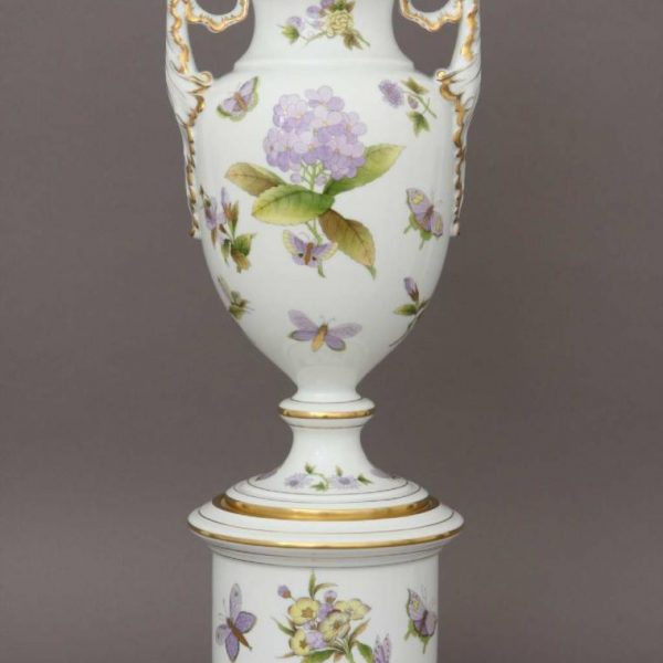 Large Vase, with stand (Assorted decors)