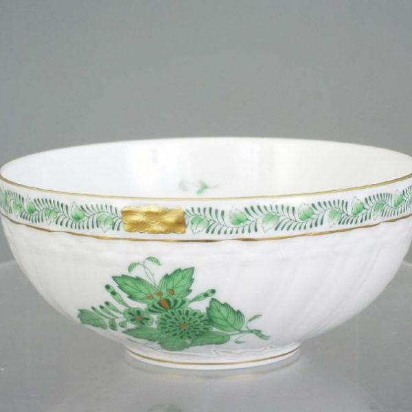 Big Oriental Bowl - Chinese Bouquet Green