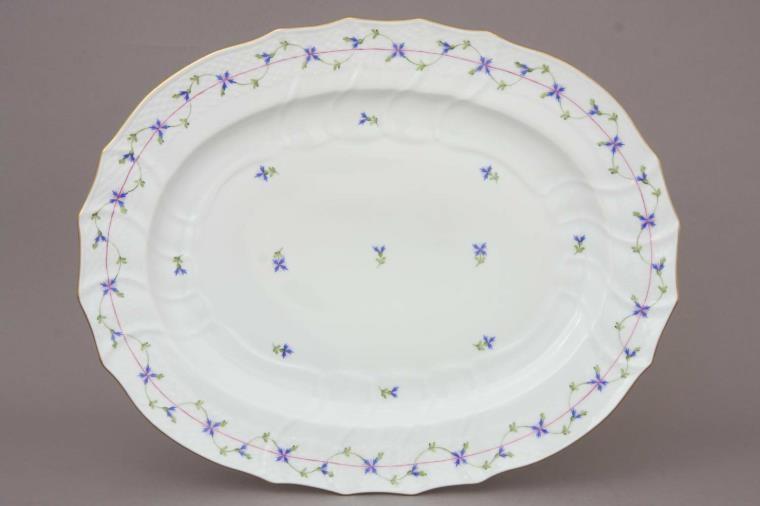 Turkey Platter - Petite Blue Garland