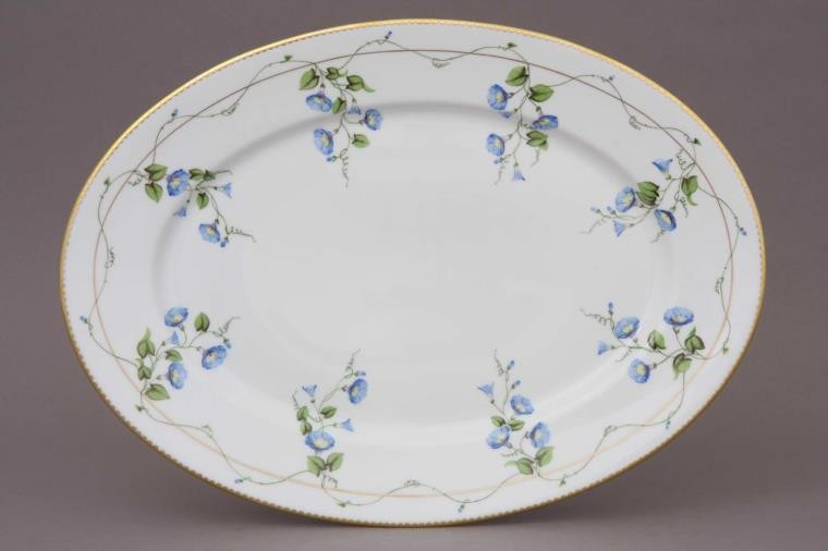 Large Oval dish - Morning Glory