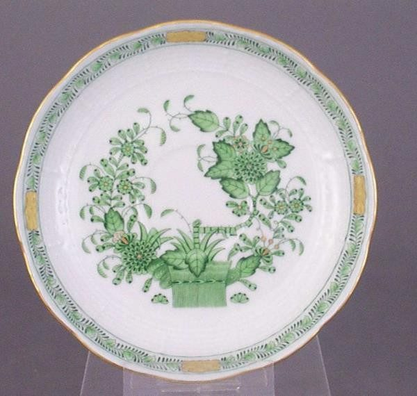 Coffee Saucer - Indian Basket Green