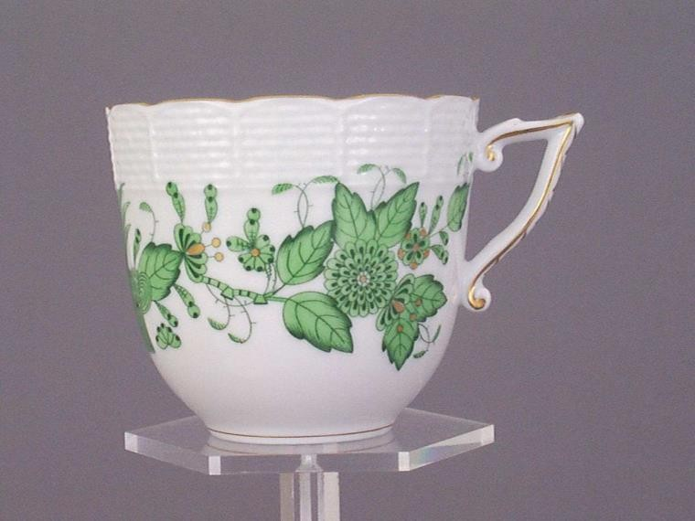Coffee Cup - Indian Basket Green