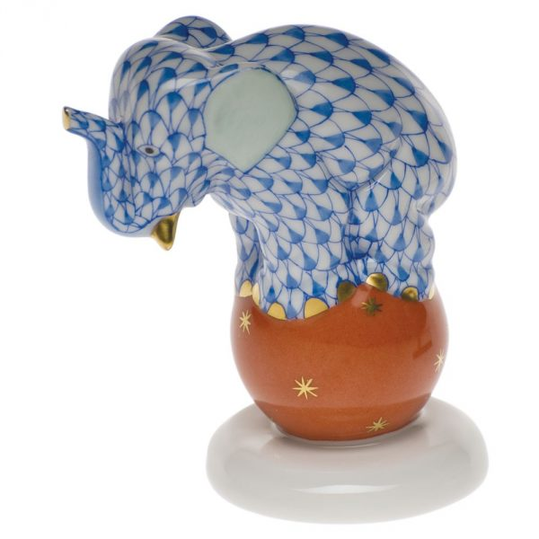 Elephant on ball Herend Fine China Figurine
